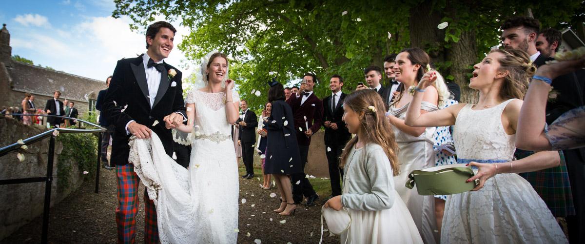 Wedding Photographer Scotland Confetti