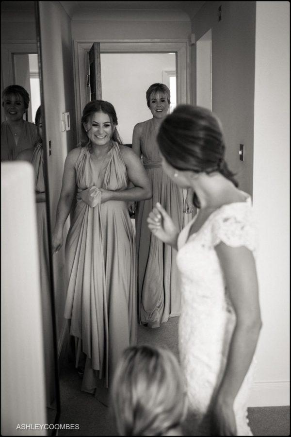 Jewish wedding bridesmaids see dress