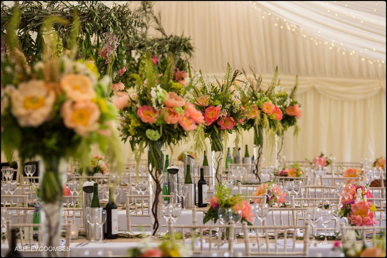 Duntreath Castle wedding marquee flowers
