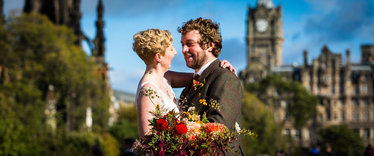 Edinburgh wedding couple