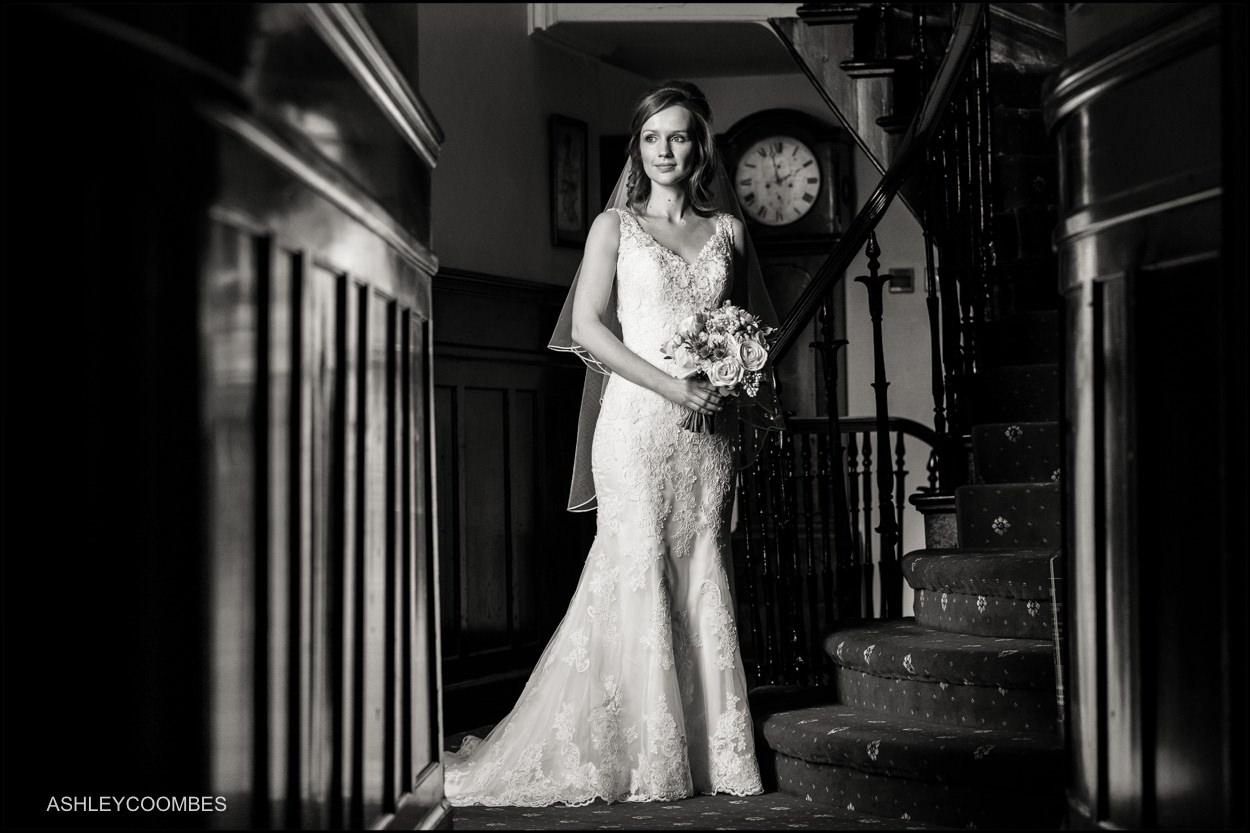 Myres Castle wedding bride portrait
