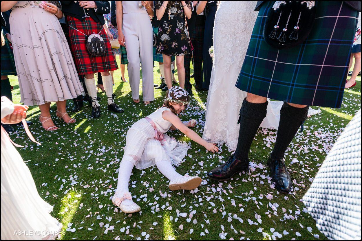 Myres Castle wedding confetti