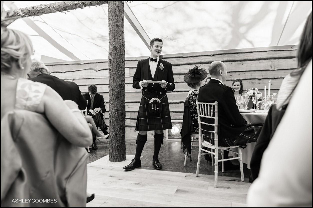Myres Castle wedding speeches