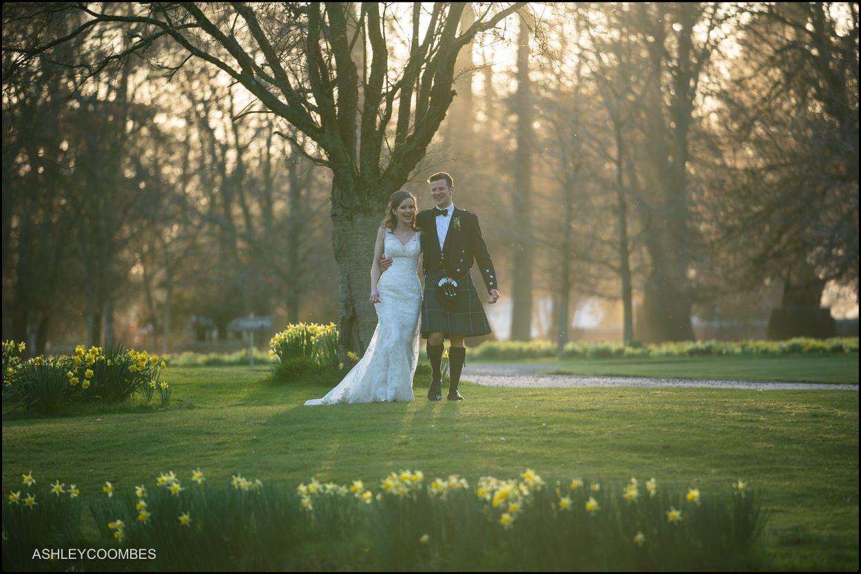 Myres Castle wedding portrait