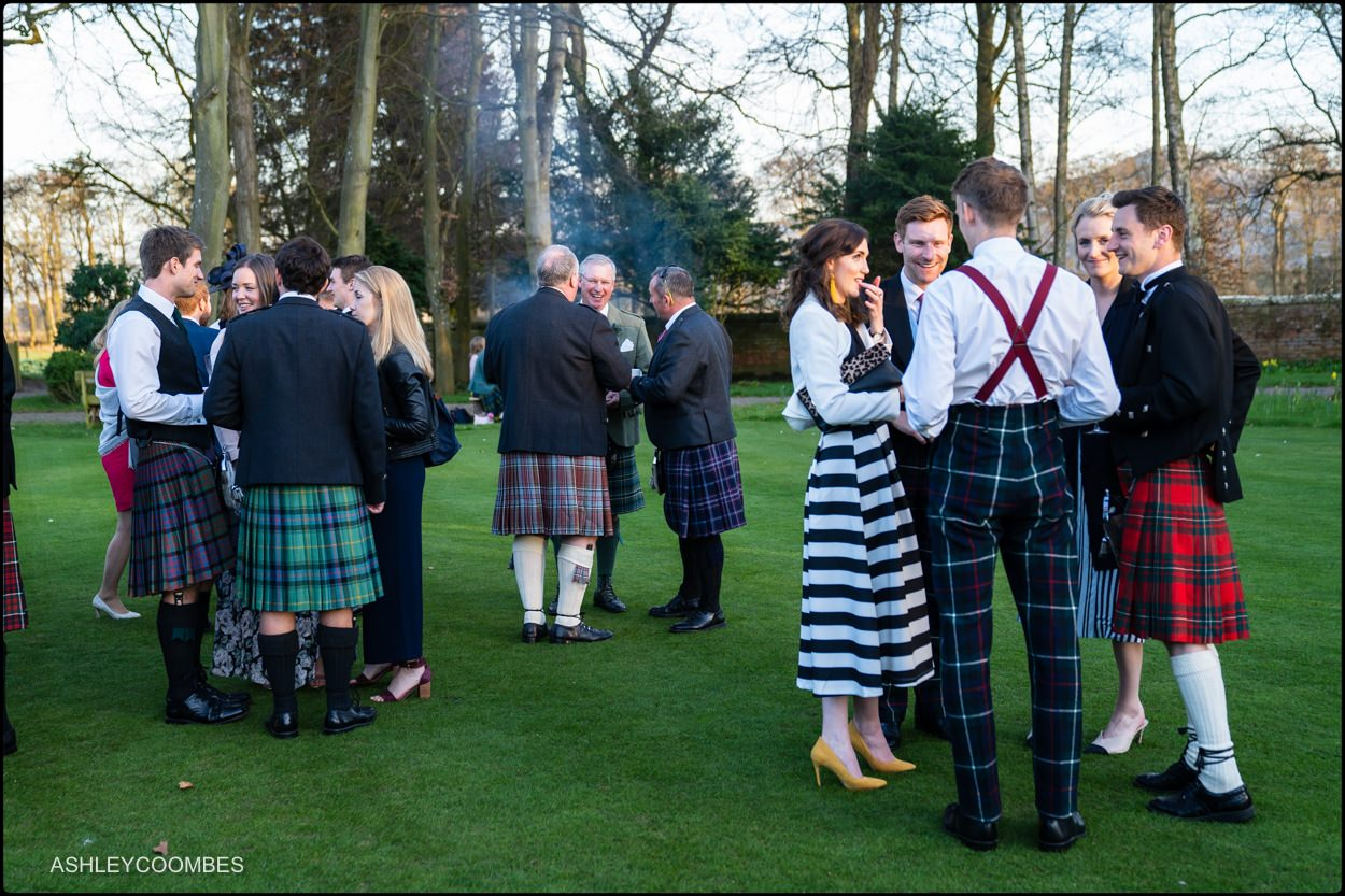 Myres Castle wedding reception