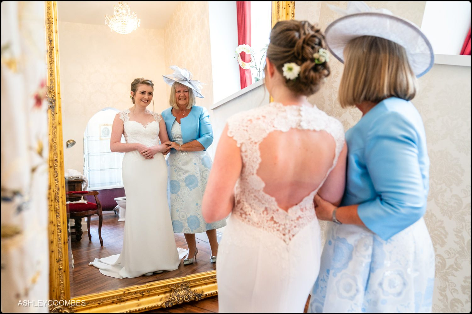 bride and mum