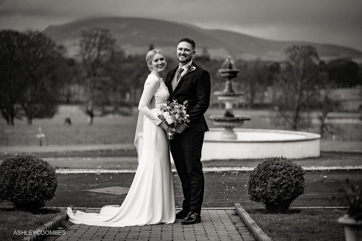 Cornhill Castle Wedding portrait