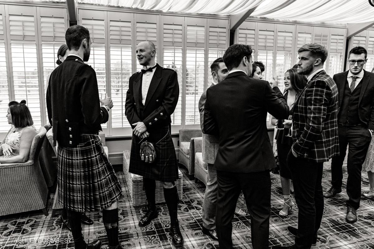 kilts at reception