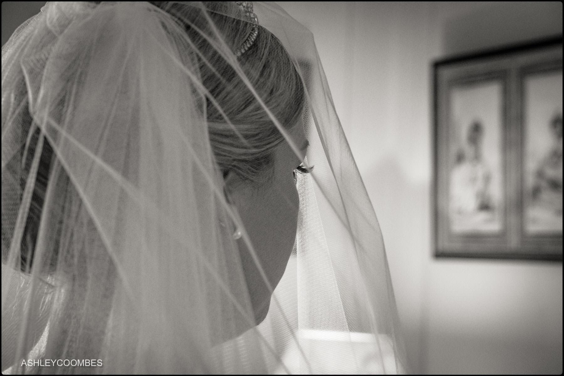 veil and eyelashes