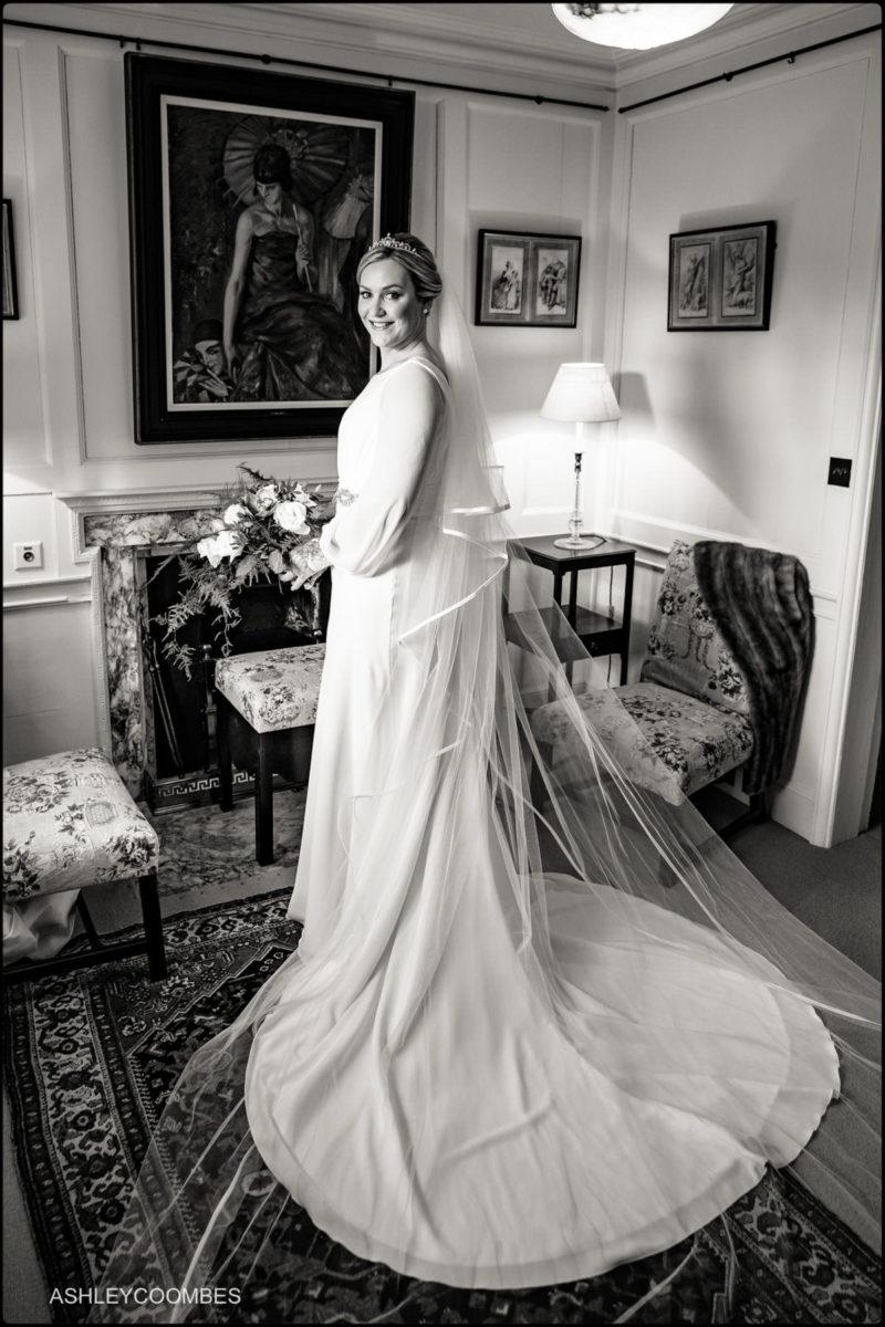 bride portrait full length