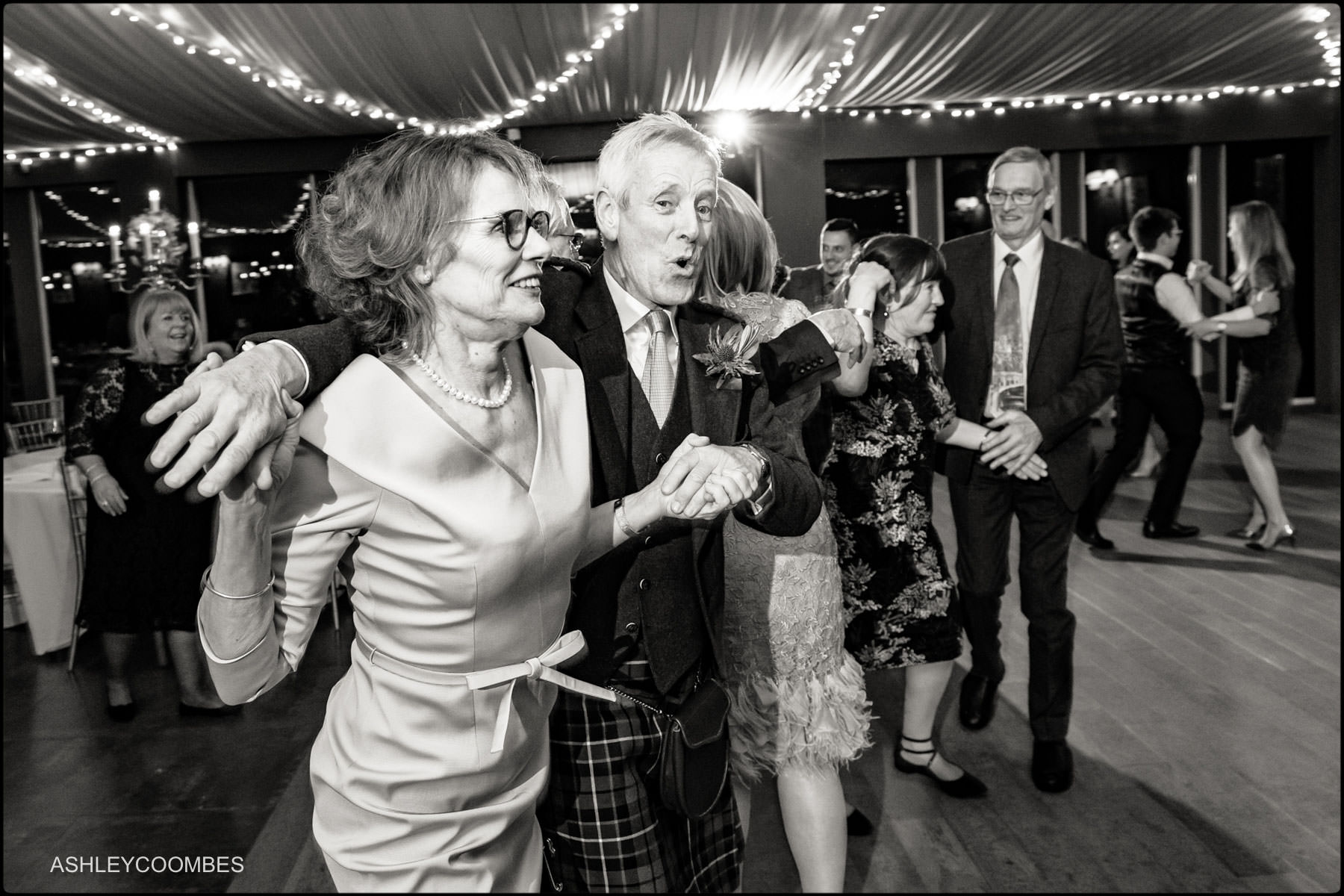 ceilidh black and white photo