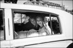 Bride Groom waving
