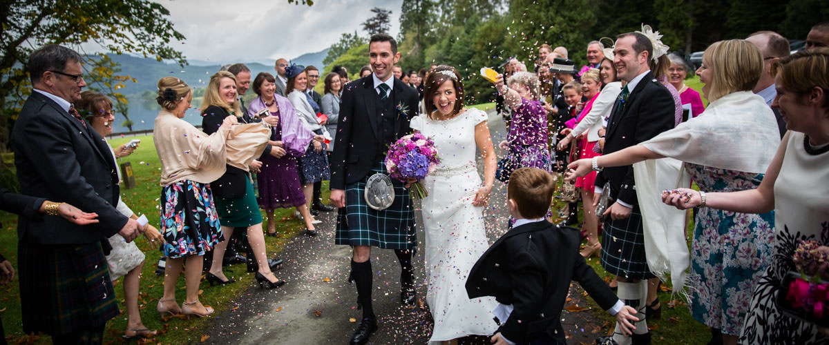 Wedding Photographer Scotland Confetti