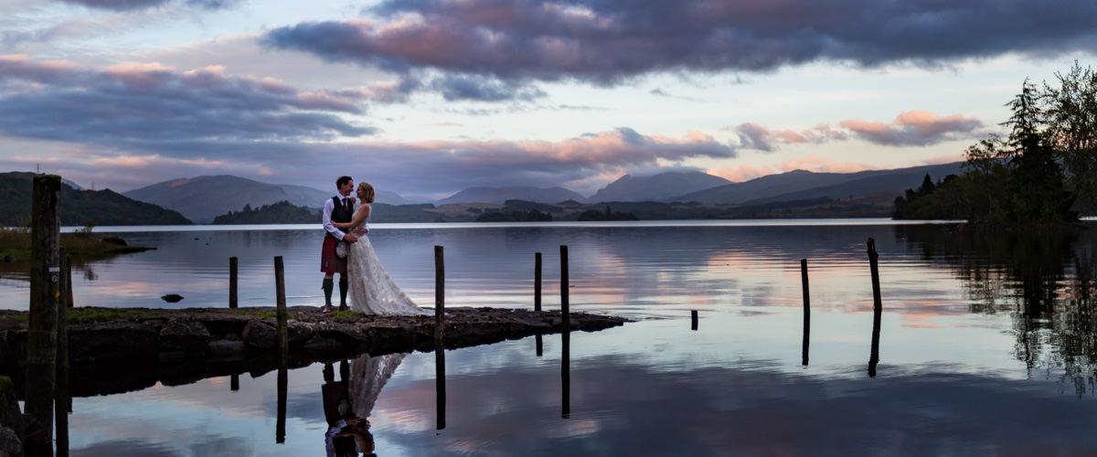 Loch Awe wedding portrait