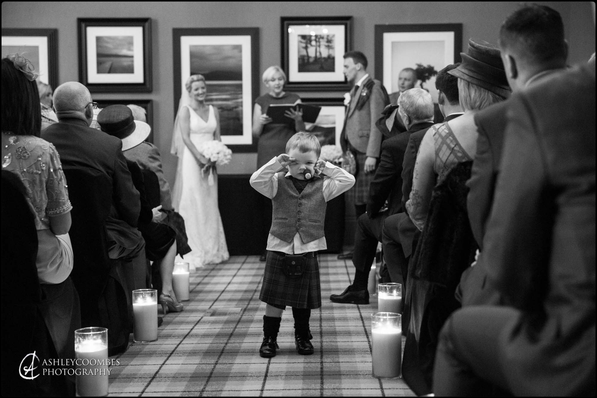 Cameron House winter wedding