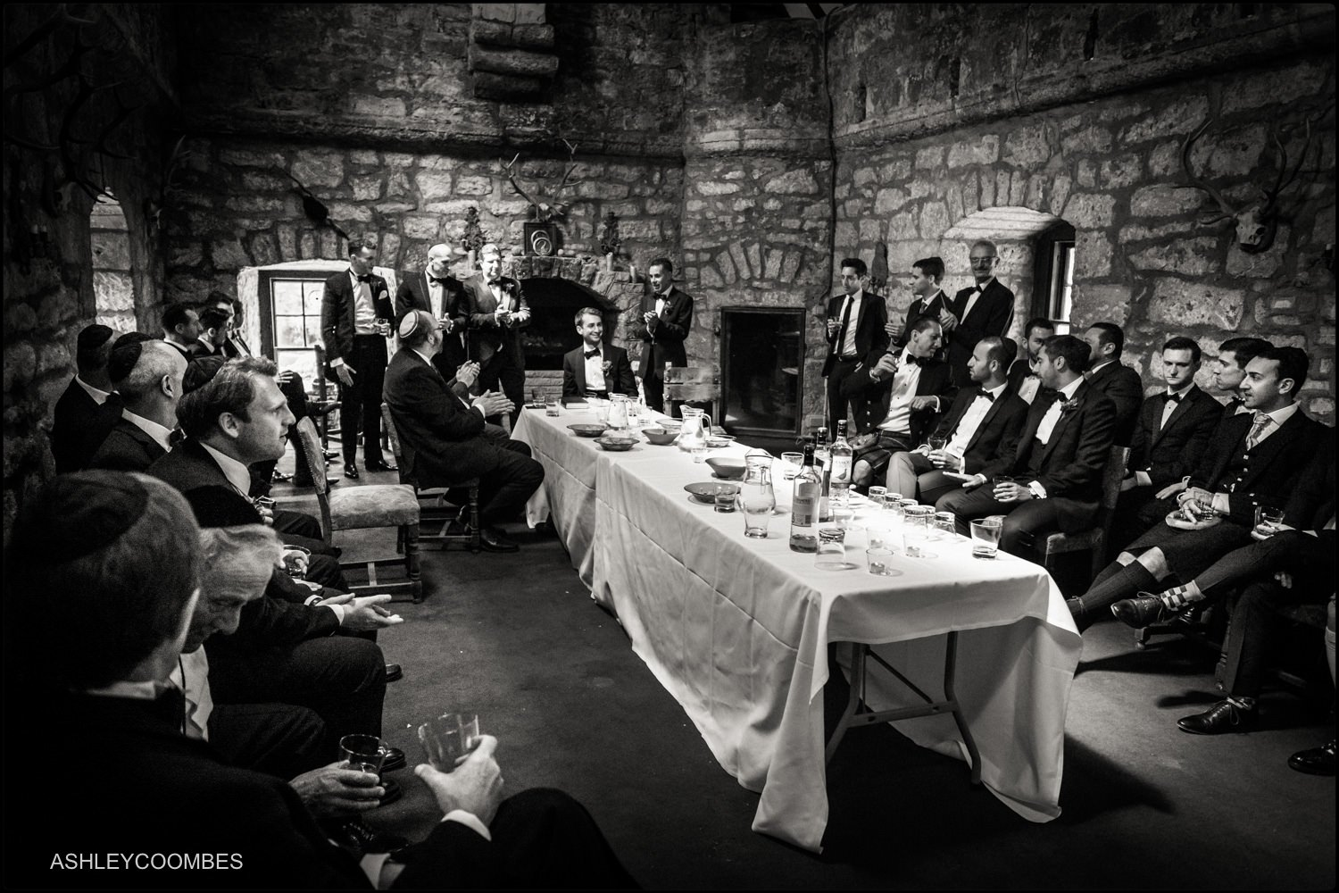 Duntreath Castle Jewish wedding Tisch