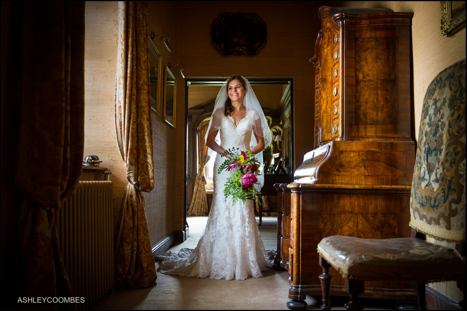 Duntreath Castle wedding Bride Portrait