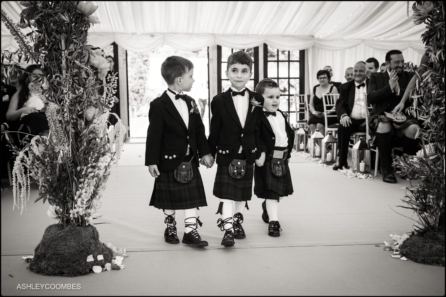 Duntreath Castle wedding page boys