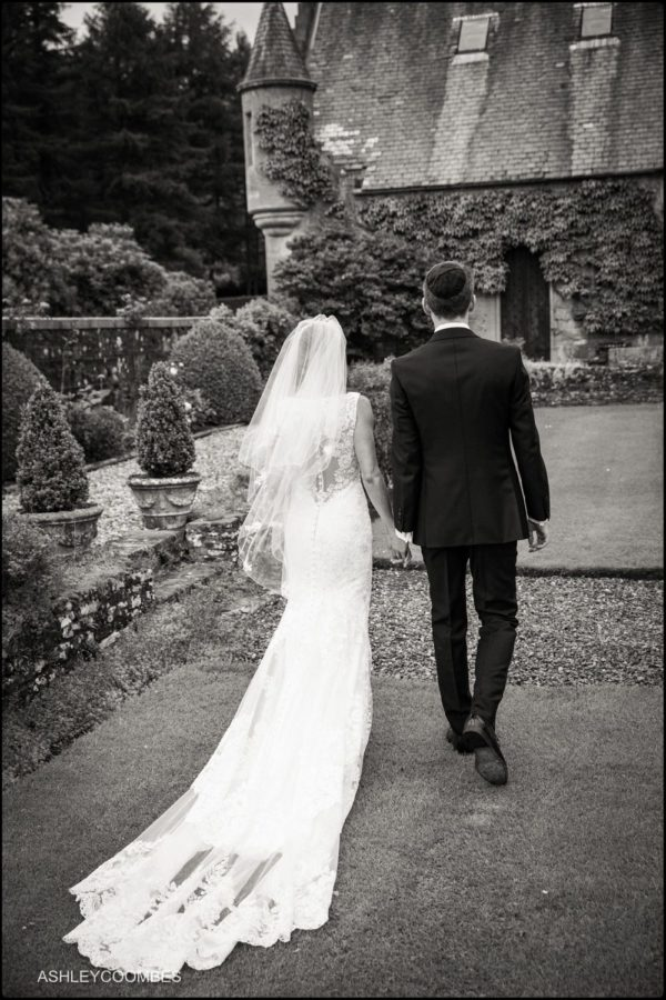 Duntreath Castle wedding couple.