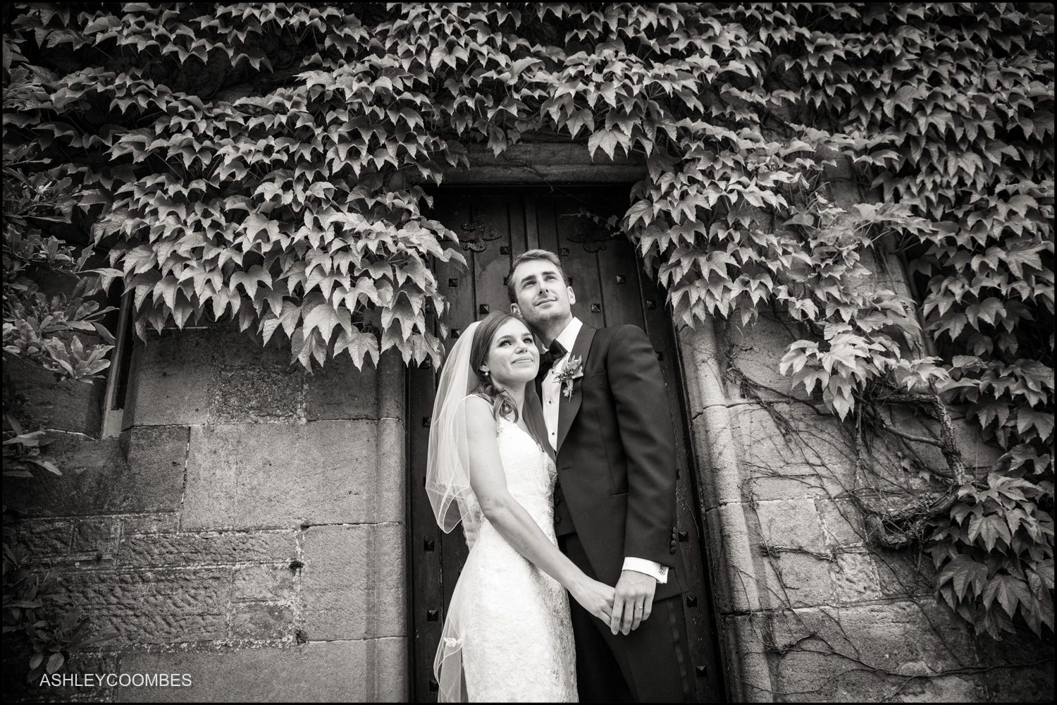 Duntreath Castle wedding portrait.
