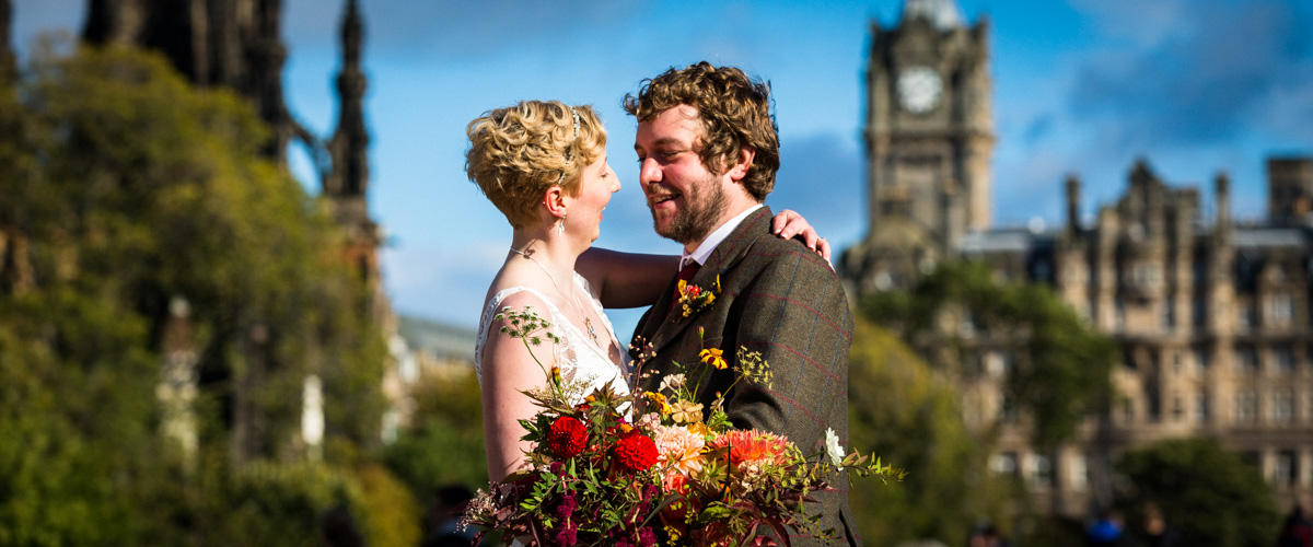 Edinburgh wedding couple