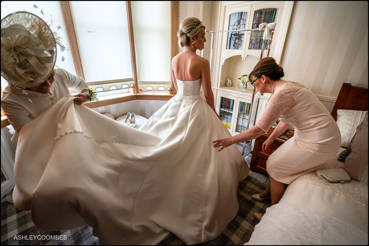 Lochgreen House Hotel wedding preparations
