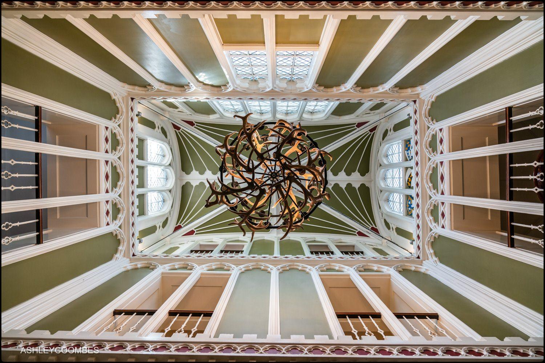 Drumtochty Castle antler chandelier