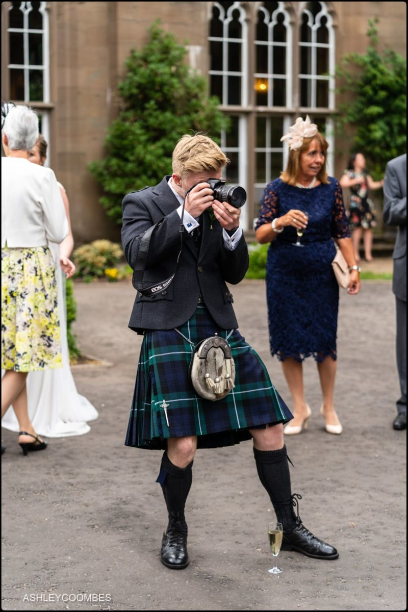 kilted guest photographer
