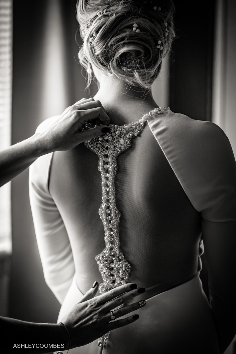 Back view of Emma Roy of Edinburgh dress