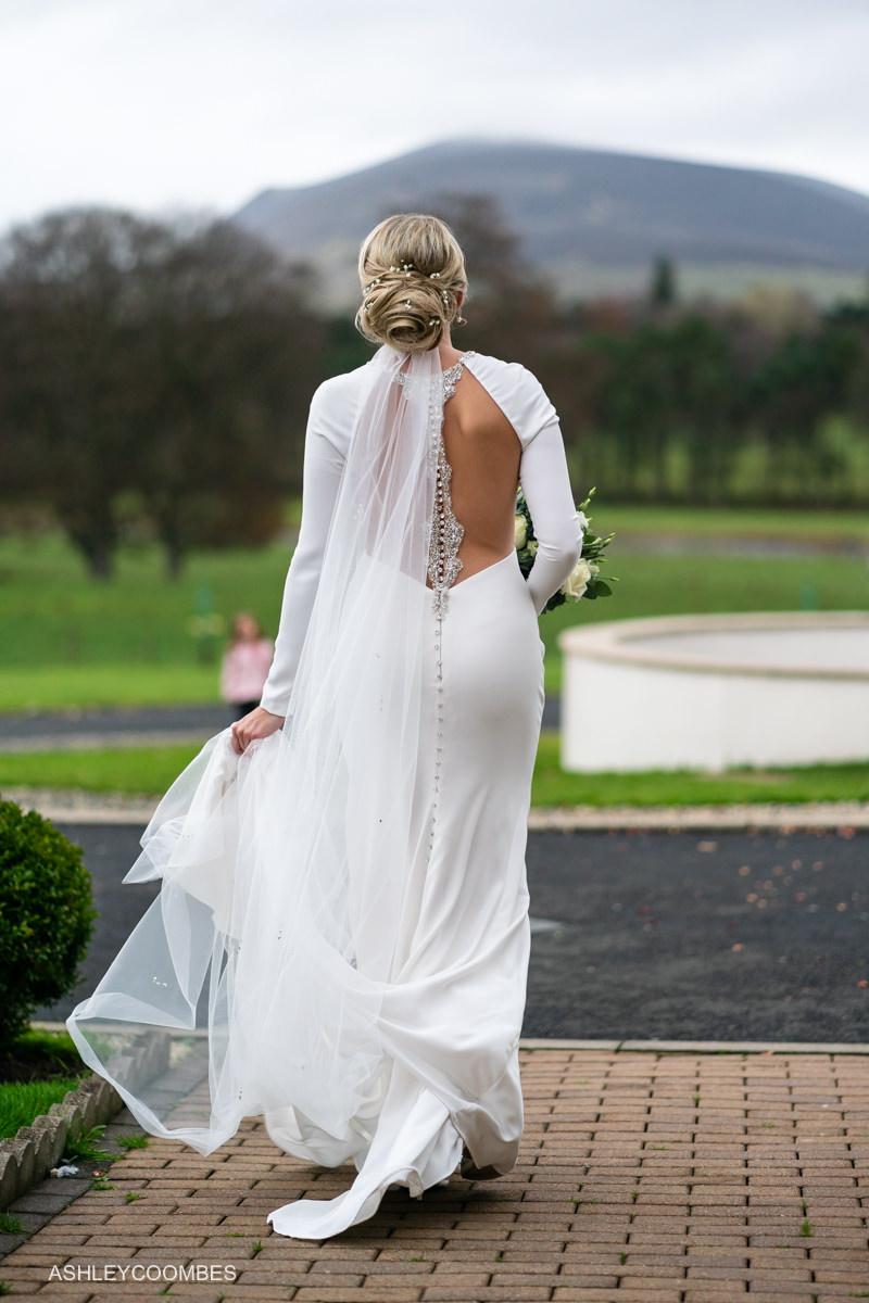 back of Sottero and Midgley dress