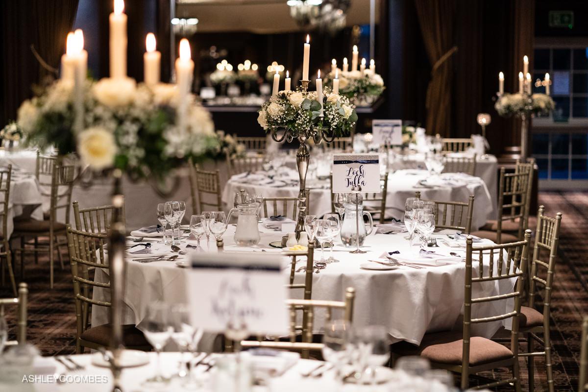 Cornhill Castle Wedding tables