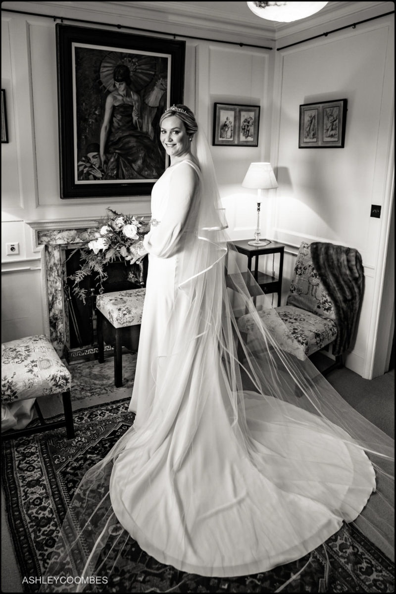 bride portrait full length