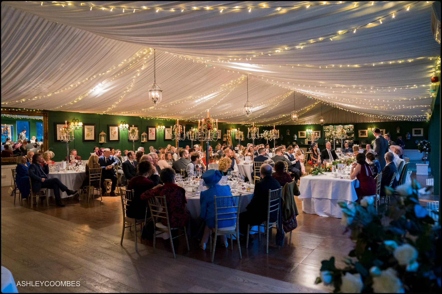 Dumfries House wedding marquee