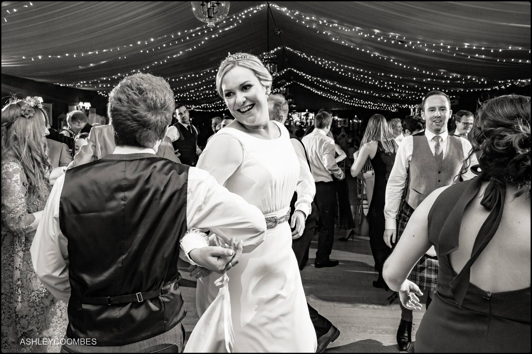 bride ceilidh dancing